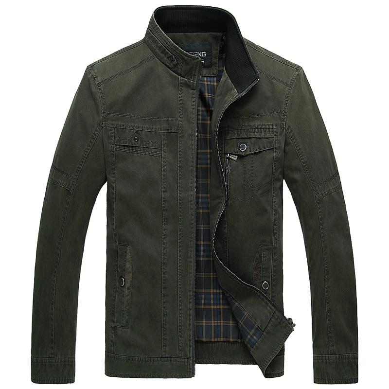 Wholesale Men'S Vintage German Military Style Jacket Olive Green ...