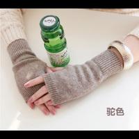 2014 Ms. cashmere gloves half finger gloves wool mitts Korean fashion warm winter gloves short paragraph