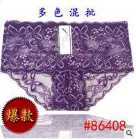 Retail Plus size M,L,XL,XXL Women sexy lingerie women sexy panties briefs lace underwear multi-colors 1pcs selling