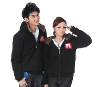 2013 Fashion Korean version the new lovers plus velvet hooded sweater long sleeve Slim jackets