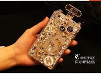 Cellphones Luxury Perfume Bottle Lanyard Bling Diamond Case  phone 5 5s 4 4s samsung S4 S5 note 2 3 Handbag TPU Back Covercase