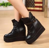 Boots boots platform high heel shoes zipper wedges boots fashion warm boots