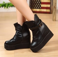Boots boots platform high heel shoes zipper wedges boots fashion warm boots