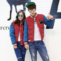 New winter clothes cotton jacket Korean casual cotton-padded clothes couple down cotton slim baseball uniform