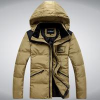 2014 new winter clothes detachable cap couple a short paragraph casual jacket the Korean version Slim men's cotton coat