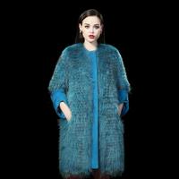 Top Quality New Arrival  Fur Coat 2014 Raccoon Fur Long Coat female Fur Design