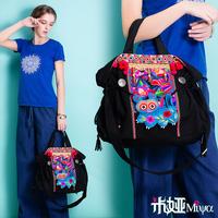 [LYNETTE'S CHINOISERIE - Miya ] New arrival national embroidery trend embroidered canvas bag shoulder bag messenger bag handbag