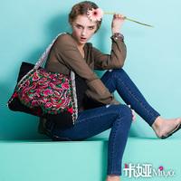 [LYNETTE'S CHINOISERIE - Miya ] National trend bag embroidery canvas bag shoulder bag handbag bag national shuangfeng