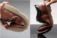 2014 New men shoe Genuine Leather Men's Flats Casual Shoes Soft Loafers Sneakers