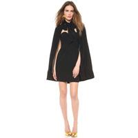 Fashion formal sweetheart neckline tube top cape sex Black dress set Plus size XS-XXL FC026