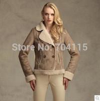 2014 fur short jacket women suede faux suede fabric
