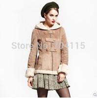 Chamois compound berber fleece outerwear short design unisex cool faux