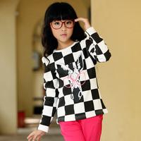 Children's clothing female child autumn and winter 2014 child fashion sweatshirt female child fleece outerwear fashion basic