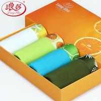 4pcs/lot LANGSHA male panties male trunk mid waist Indian fiber antibiotic breathable belts