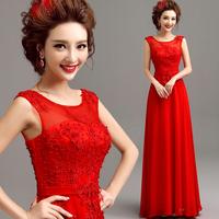 2014 BEST THE ANGEL formal dress new arrival A-Line red lace long design evening dress Floor-Length formal dress A5582#