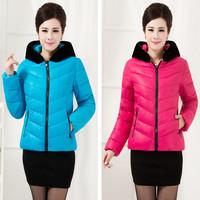 Plus size clothing mm wadded jacket short design female cotton clothes plus size plus size cotton-padded jacket winter