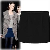 New 2014 Spring Arrival Autumn Winter Casual Fitness Women Skirts Ruffles High Waist Mini Slim Woolen Tutu