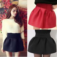 2014 New summer Women's fashion high waist slim sheds pleated skirt bust black skirt