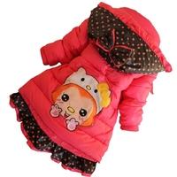 D117 children's clothing winter 2014 female child wadded jacket cotton-padded jacket gossip child cotton-padded jacket children