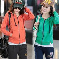 Set plus size clothing outerwear sports set female uniform baseball sweatshirt casual set
