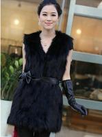 2014 faux medium-long vest short design vest top spring and autumn women's outerwear