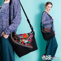 [LYNETTE'S CHINOISERIE - Miya ] National embroidery trend embroidered canvas bag shoulder bag national bag women's handbag