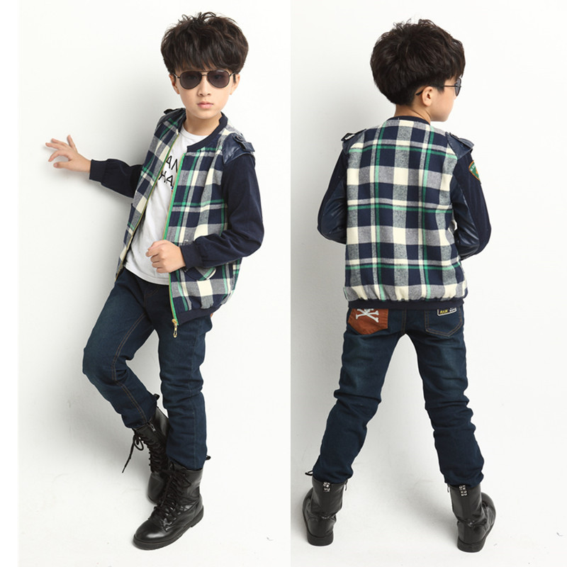 Boys Designer Clothes Brand boys plaid clothes brand