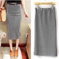 Spring New in 2014 Fashion women's clothing Striped maxi skirt Womens Short Saias Femininas Ladies Elasticity Skirts