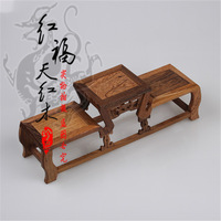 Mahogany quality shelf jade bonsai vase teapot antique frame prabhutaratna rack wenge side table