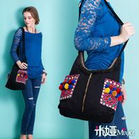 [LYNETTE'S CHINOISERIE - Miya ] National trend embroidered embroidery canvas bag shoulder bag cross-body women's handbag