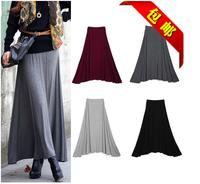 Free Shipping Hot Sale 2014 New Plus Size XXL XXXL 4XL Black Grey Minimalist Jersey Knit Long Maxi Skirt