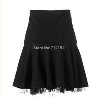 Presell autumn plus size black skirt  2014 autumn comfortable all-match high waist pleated half-skirt wardrobe L to 6XL New