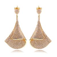 New Arrive Women's Luxury CZ Drop Earrings AAA Quality CZ Lead Free Brass Platinum 18K Gold Plated Earring Wedding Earrings