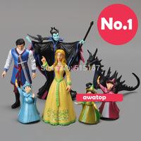 7pcs/set Sleeping Beauty Maleficent Princess Aurora Maleficent PVC Action Figure Toys Dolls