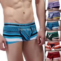 Free shipping WJ men underwear 100% cotton big bag men boxer shorts single orders 7345