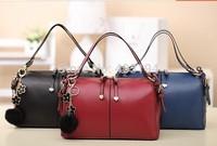 2014 Fashion Women Shoulder Bag Solid elegant bag Brand design PU tote bag femme messenger bag black red SD1 free shipping