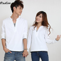 The new autumn outfit 2014 sweethearts outfit Han edition men's and women's long sleeve T-shirt Free shipping