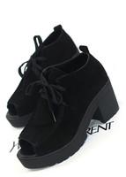 Fashion vintage platform shoes high-heeled shoes women's shoes scrub genuine leather platform thick heel open toe shoe female