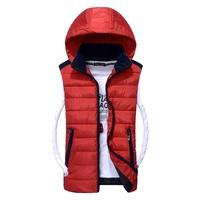 2014 new autumn winter the Korean version Slim hooded tidal male wild feather cotton vest jacket