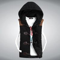 2014 new autumn winter down cotton vest Korean version Slim stylish casual tidal male vest