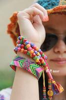 Sugar handmade yak bone multicolour beads necklace bracelet car hanging with counter