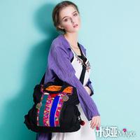 MIYA New arrival embroidery bag embroidered bag national trend canvas bag shoulder bag handbag messenger bag