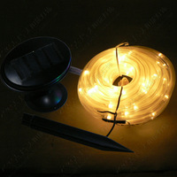 Solar led Strip lights ,holiday lights, Christmas neon, yellow color, lights control,Long-life durability, bright colors