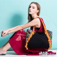 [LYNETTE'S CHINOISERIE - Miya ] New arrival national trend bag embroidery bag embroidered canvas bag shoulder bag handbag bell