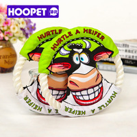 Pet toy dog frisbee small pet tauren rope molar dog toys teddy
