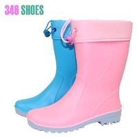 Fashion matte dual paul warm plus cotton liner rain boots rainboots water shoes rain boots female