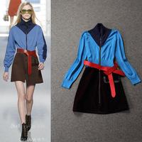 Fashion women's 2014 t long-sleeve dress