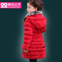 6 - 12 years princess girl coat winter 90% white duck down winter jackets for girls fur collar fashion children's winter jackets