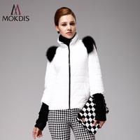 Short design white down coat female mokdis fashion slim autumn and winter outerwear