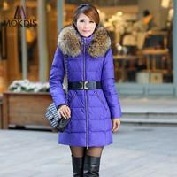 Down coat women's noble elegant medium-long casual fashion 2013 winter down coat